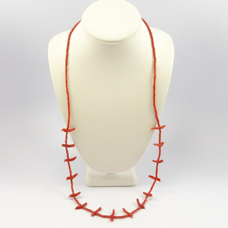 1970s Coral Fetish Necklace