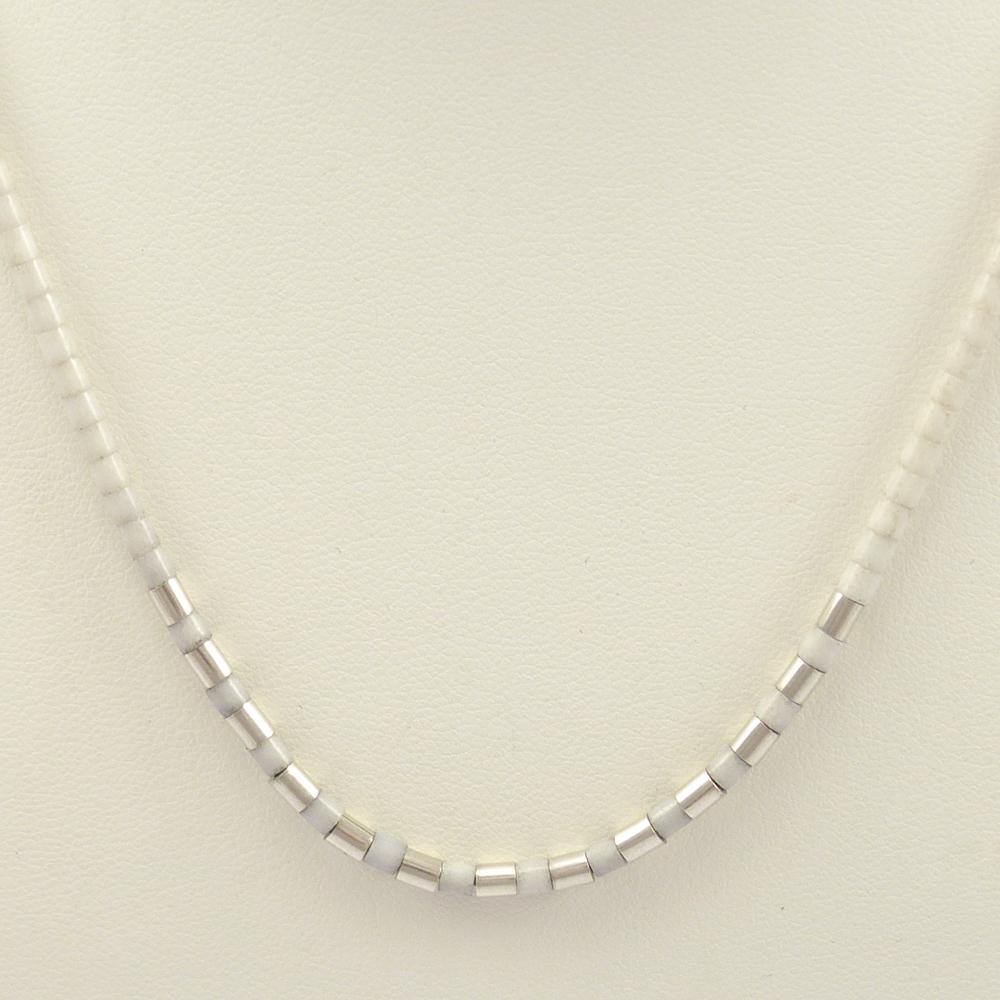 White Marble Heishi Necklace