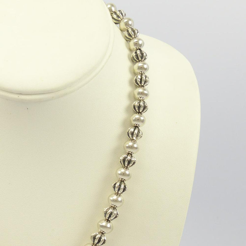 Silver Bead Necklace