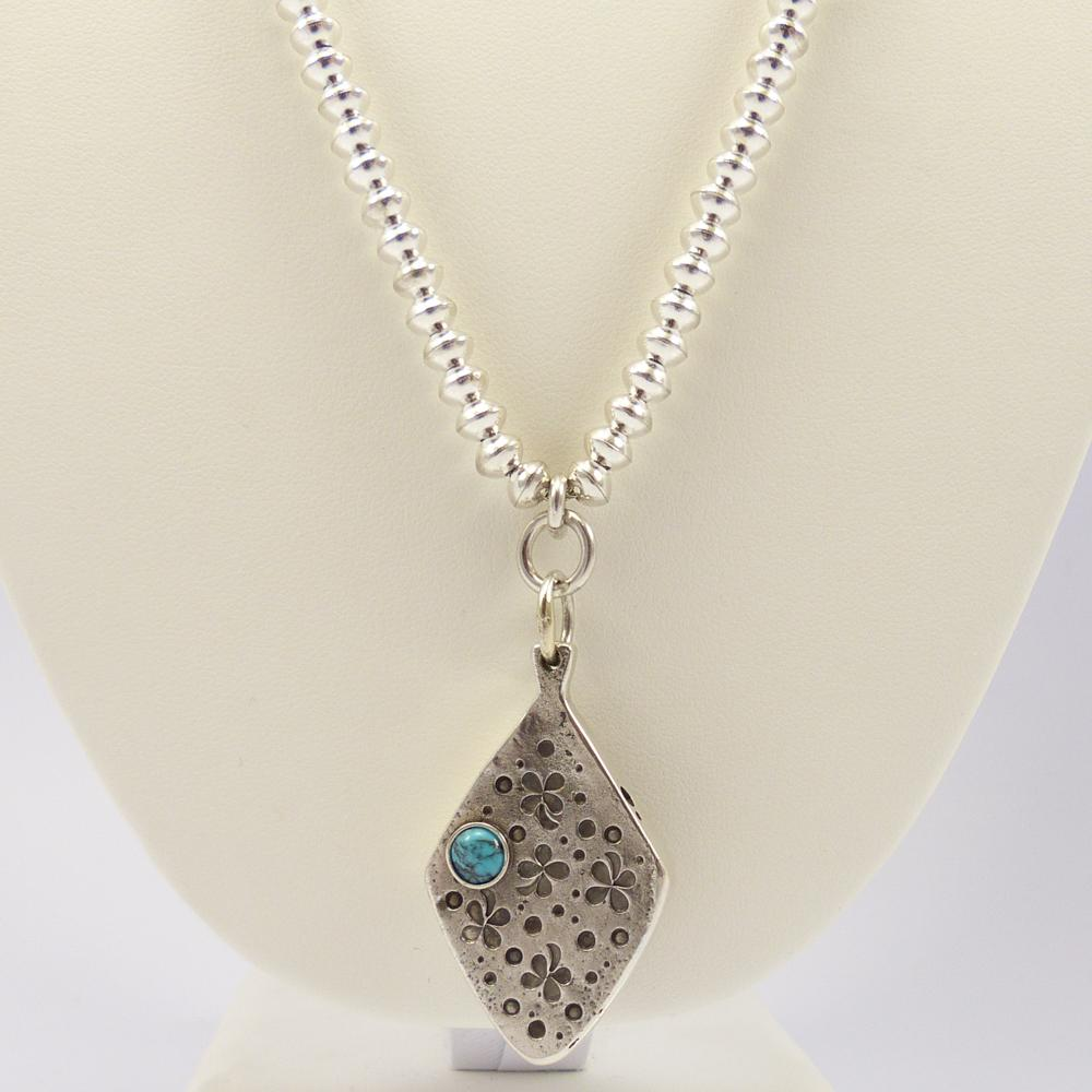 Bead Necklace with Pendant