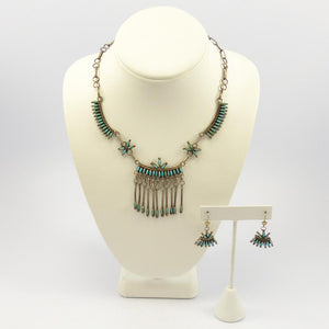 Vintage Turquoise Necklace and Earring Set