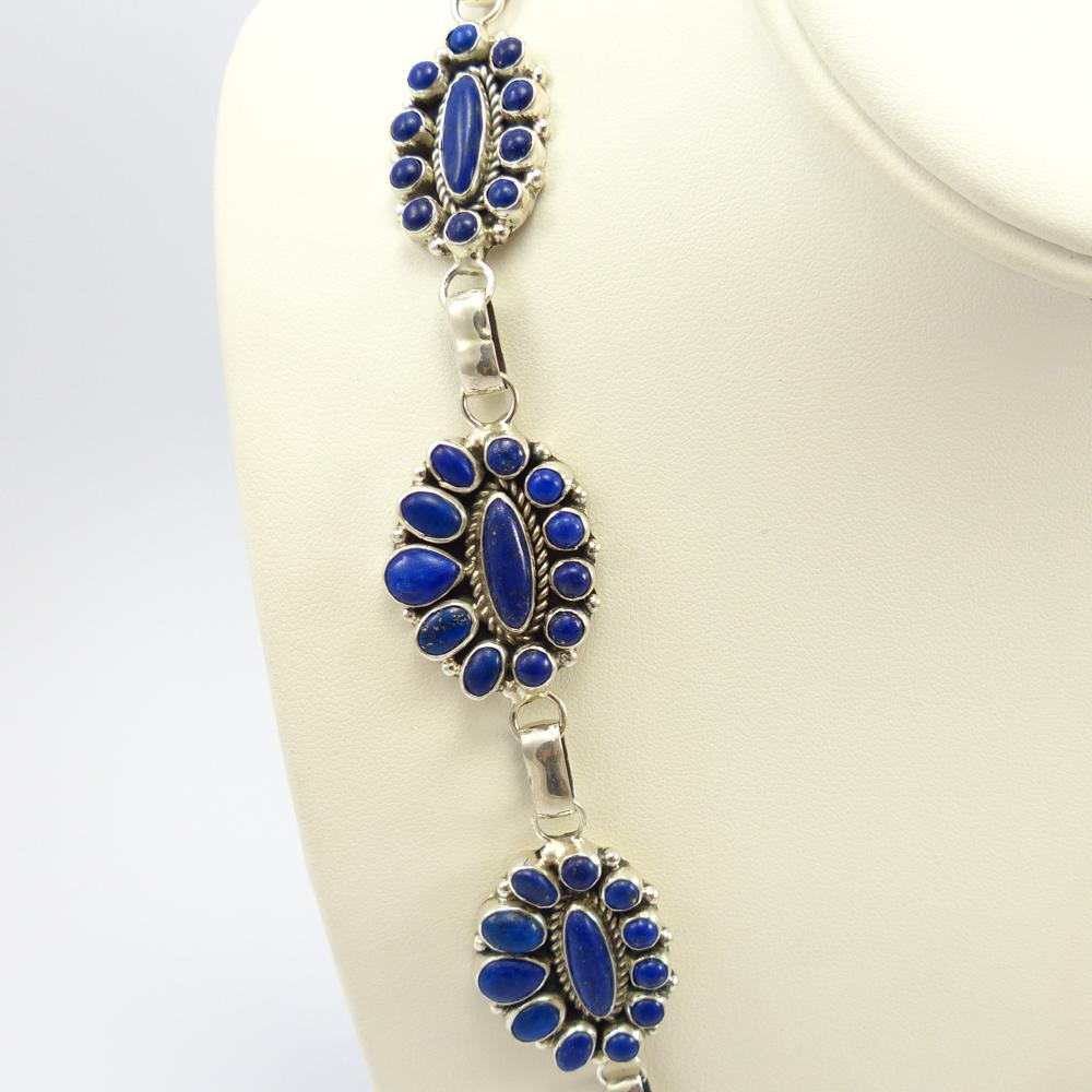 Lapis Cluster Necklace