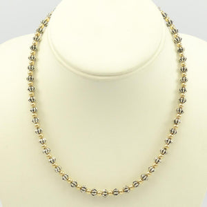 Gold & Silver Bead Necklace Set