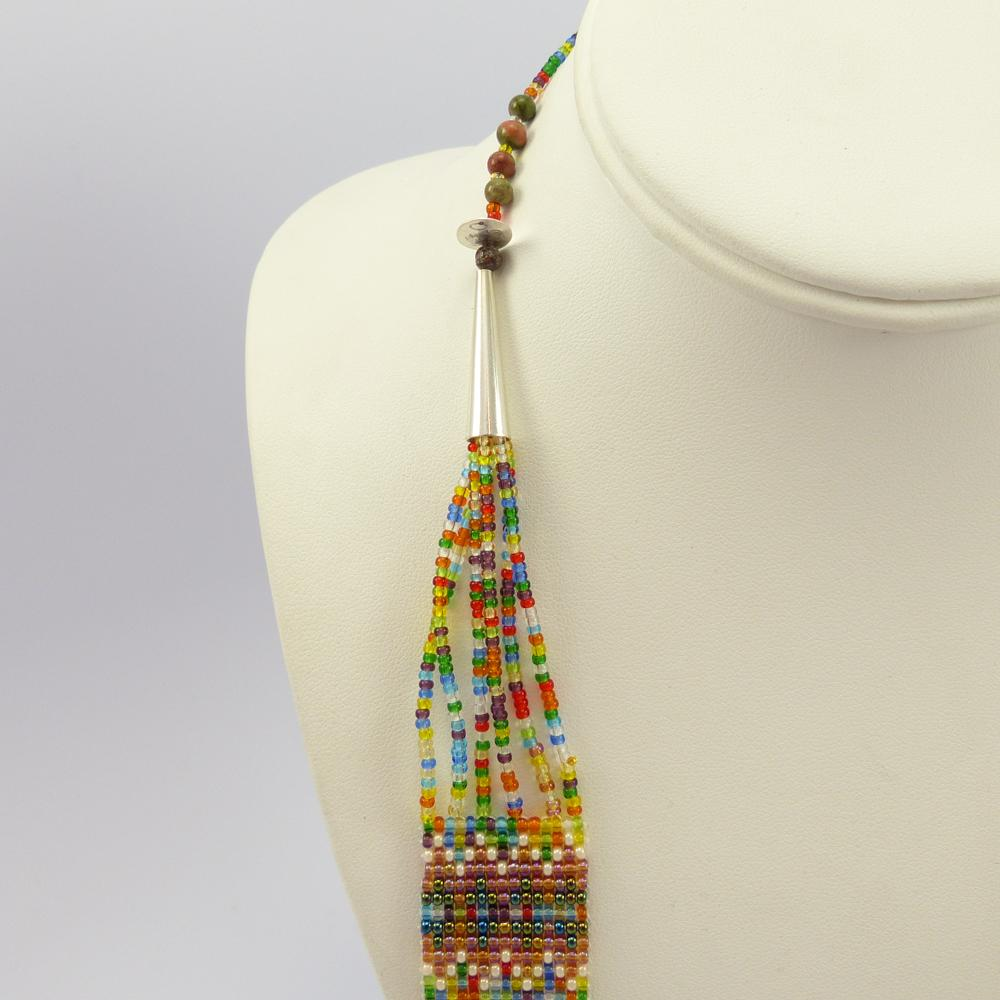 Beaded Necklace and Earring Set