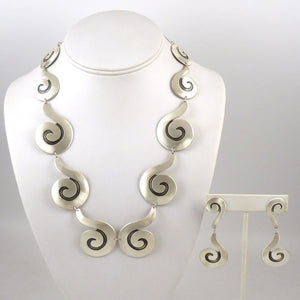 Silver Necklace and Earring Set - Jewelry - Debbie Silversmith - 1