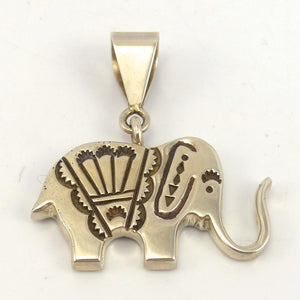 Silver Elephant Pendant, Norman Woody, Jewelry, Garland's Indian Jewelry