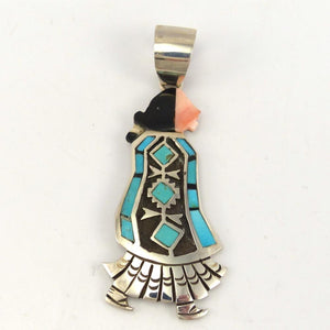 Navajo Woman Pendant, Richard Begay, Jewelry, Garland's Indian Jewelry