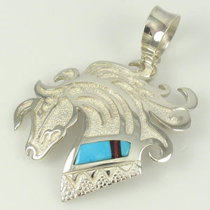 Inlaid Horse Pendant - Jewelry - Richard Begay - 1