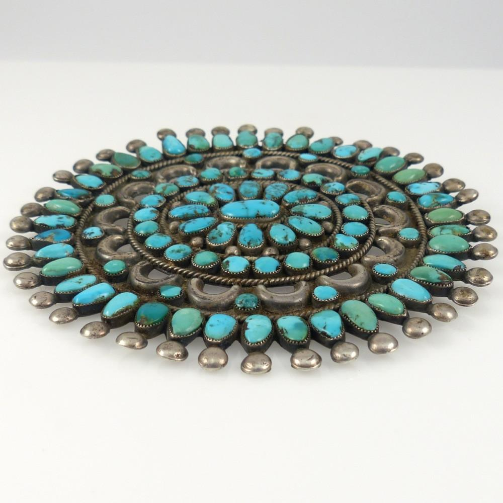1950s Turquoise Cluster Pin - Jewelry - Quandelacy - 1