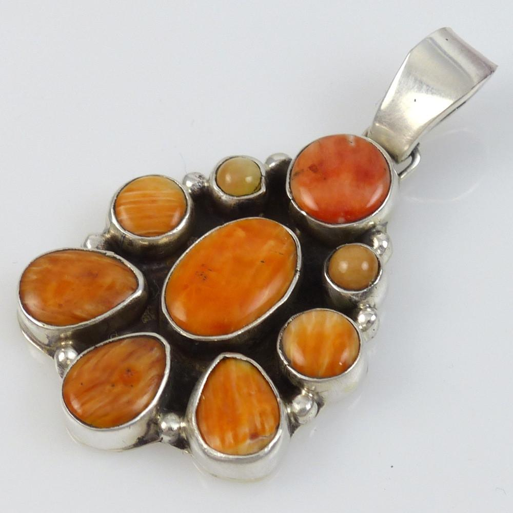Orange Spiny Oyster Shell Pendant - Jewelry - Clarissa and Vernon Hale - 1