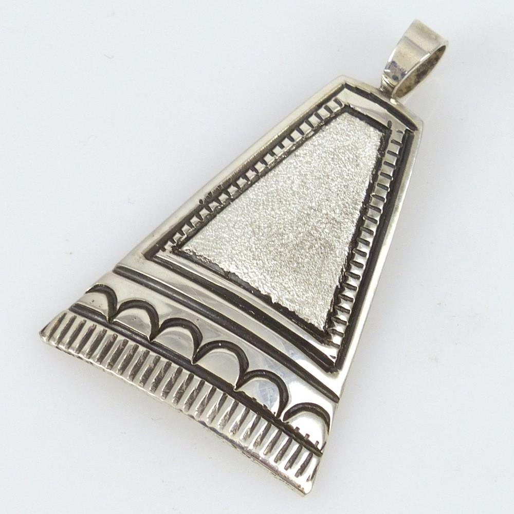 Stamped Silver Pendant - Jewelry - Lutricia Yellowhair - 1