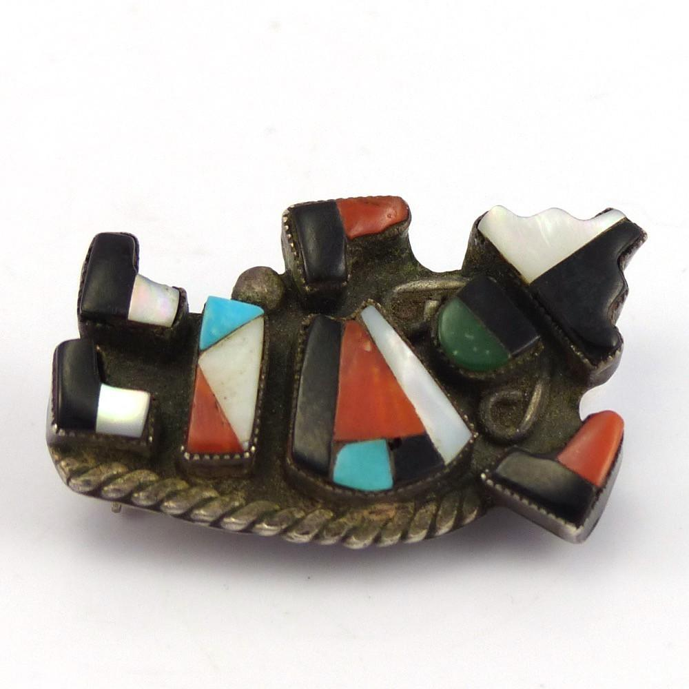 Inlay Rainbow Man Pin, Vintage Collection, Jewelry, Garland's Indian Jewelry