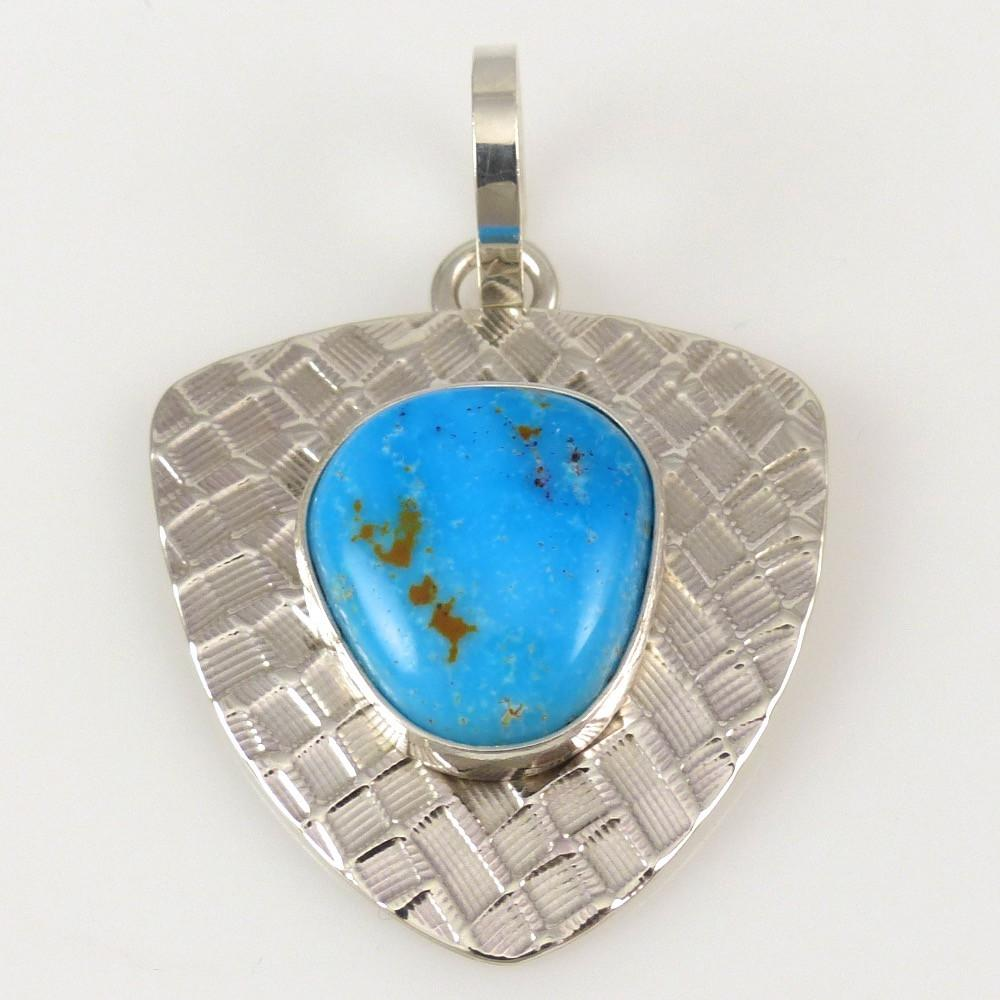Nevada Turquoise Pendant - Jewelry - Steven Yellowhorse