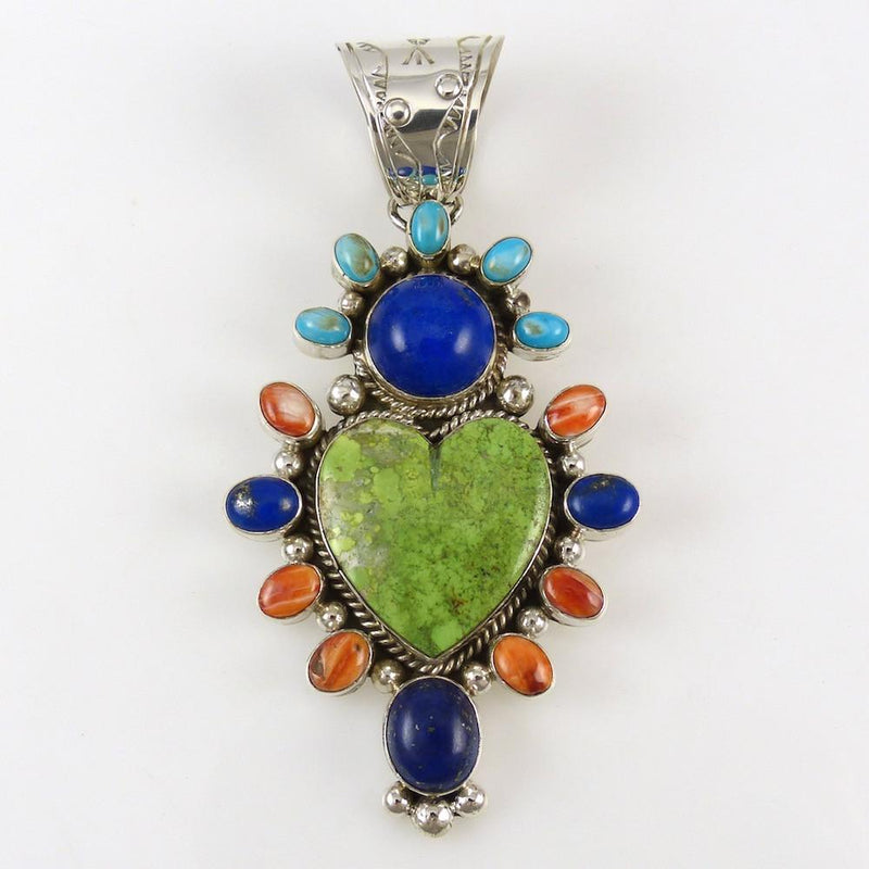 Multi-Stone Heart Pendant - Jewelry - Veronica Yellowhorse - 1