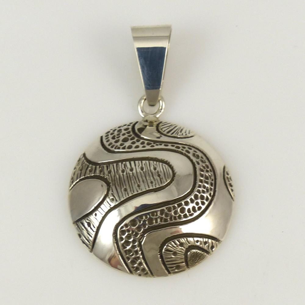 Stamped Silver Pendant - Jewelry - Kee Yazzie - 1