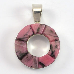 Rhodonite Inlay Pendant - Jewelry - Michael Dukepoo - 1