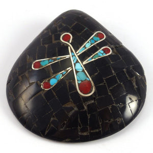 Dragonfly Shell Pendant - Jewelry - Mary Lovato - 1