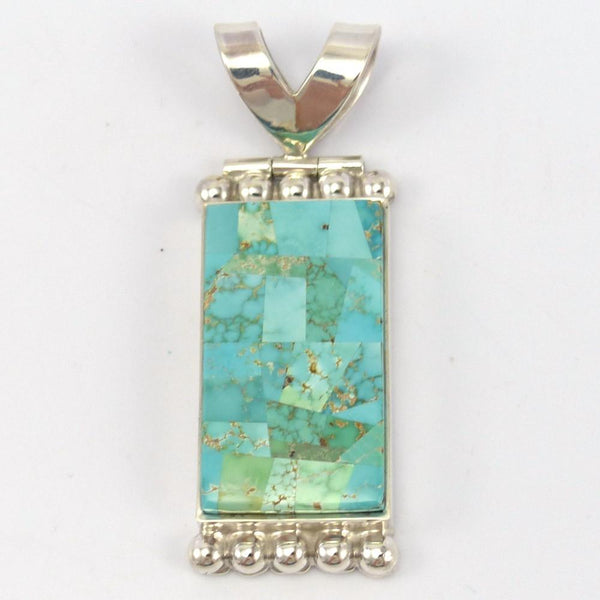 Carico Lake Turquoise Pendant - Jewelry - Bryon Yellowhorse - 1