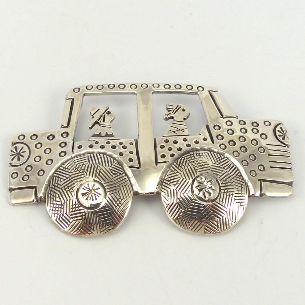 Silver Car Pin, Linda Peshlakai, Jewelry, Garland's Indian Jewelry