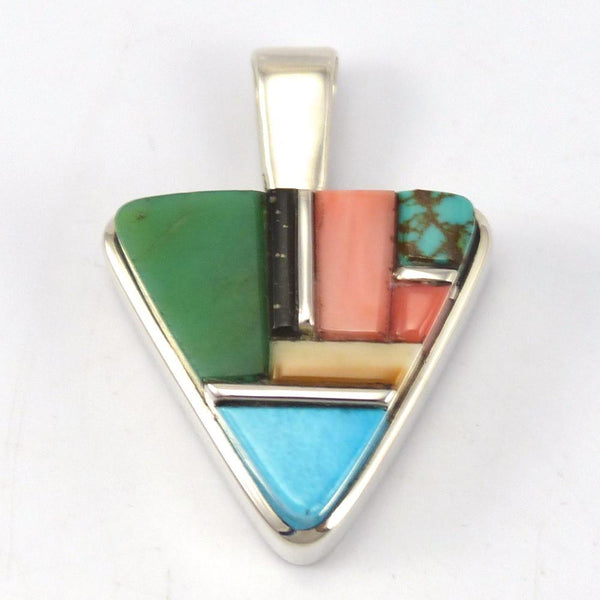 Multi-Stone Inlay Pendant, Sherian Honhongva, Jewelry, Garland's Indian Jewelry