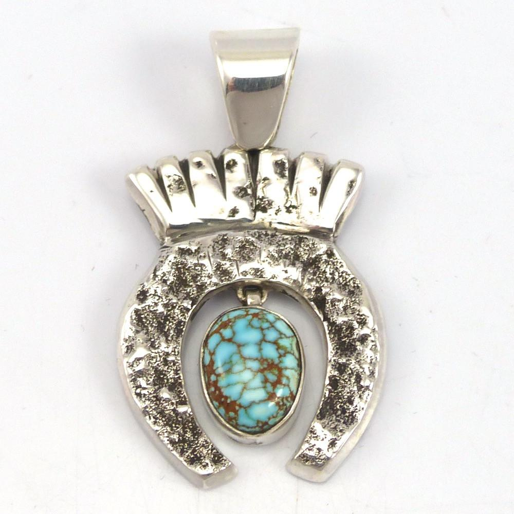 Number Eight Turquoise Pendant, Noah Pfeffer, Jewelry, Garland's Indian Jewelry