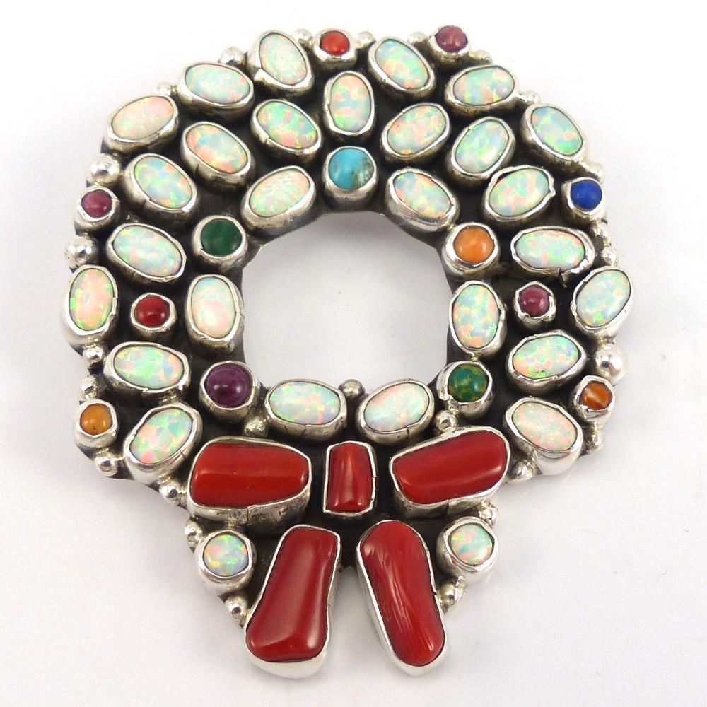Holiday Wreath Pin, Clarissa and Vernon Hale, Jewelry, Garland's Indian Jewelry