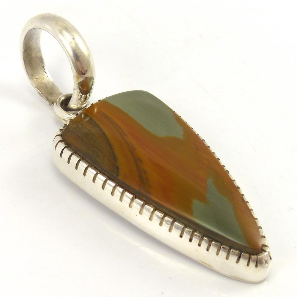 Jasper Pendant, Bryan Joe, Jewelry, Garland's Indian Jewelry