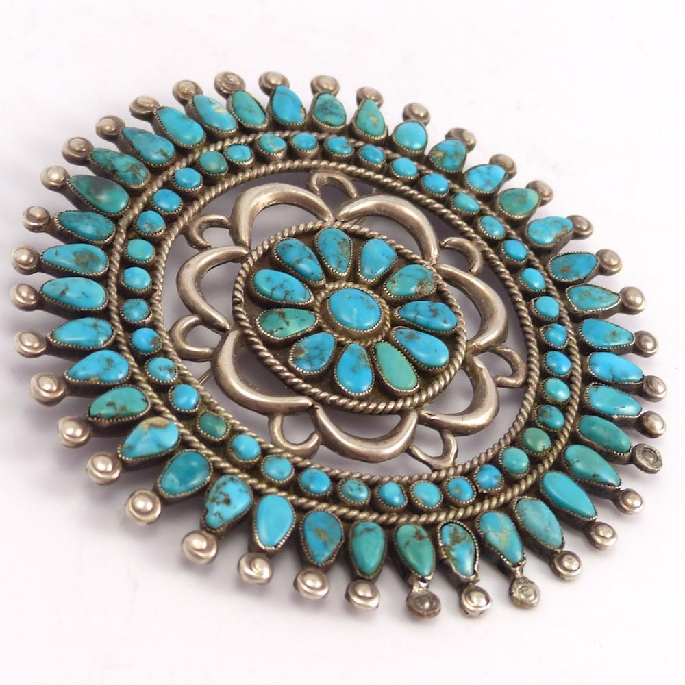 1970s Turquoise Pin, Vintage Collection, Jewelry, Garland's Indian Jewelry