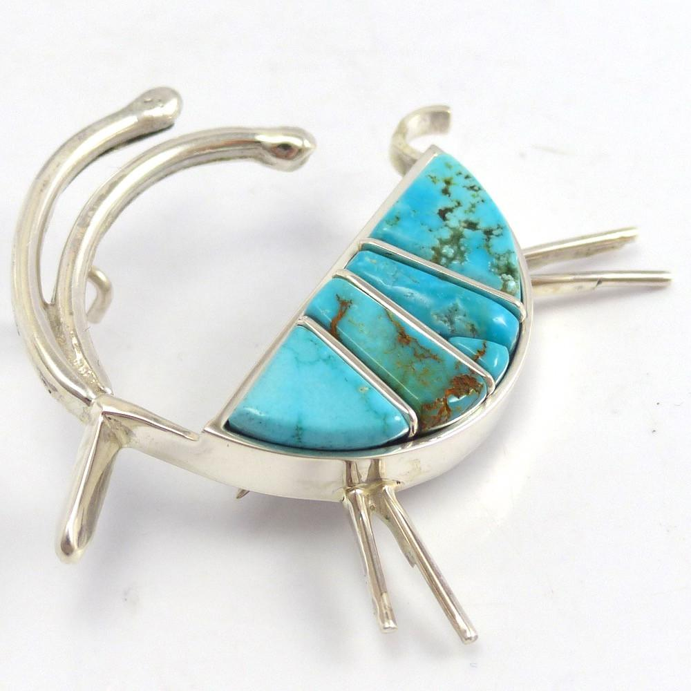 Antelope Pin and Pendant, Bryon Yellowhorse, Jewelry, Garland's Indian Jewelry