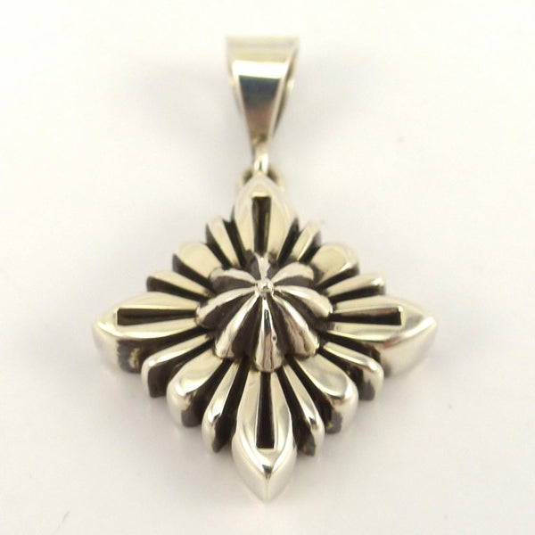 Filed Silver Pendant, Ron Bedonie, Jewelry, Garland's Indian Jewelry