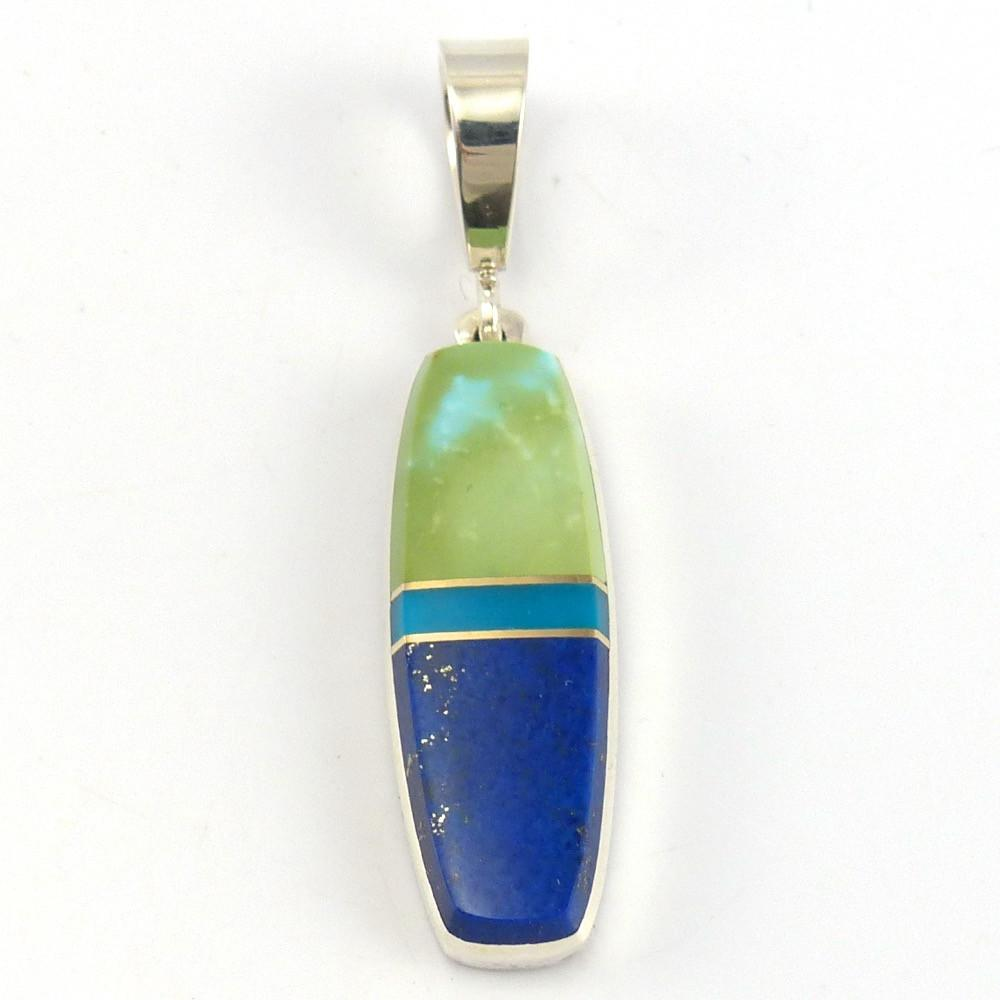 Inlay Pendant, Duane Maktima, Jewelry, Garland's Indian Jewelry