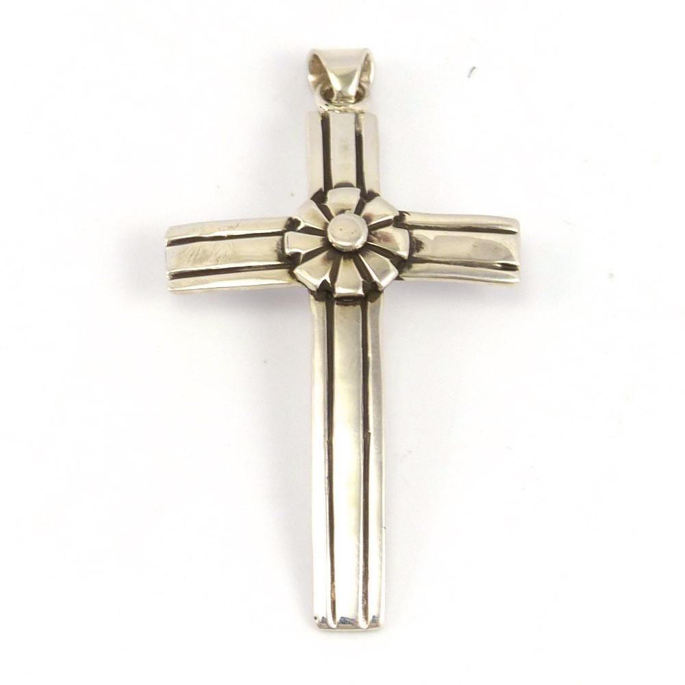 Silver Cross Pendant, Lutricia Yellowhair, Jewelry, Garland's Indian Jewelry