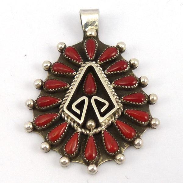 Coral Pendant, Billy Betoney, Jewelry, Garland's Indian Jewelry