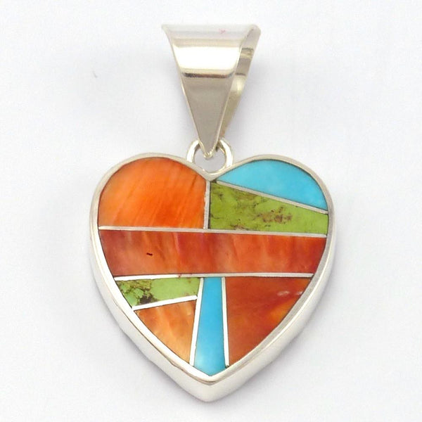 Sunrise Heart Pendant, Peterson Chee, Jewelry, Garland's Indian Jewelry