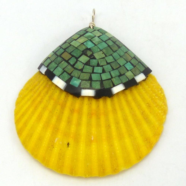 Inlaid Shell Pendant, Joe and Angie Reano, Jewelry, Garland's Indian Jewelry