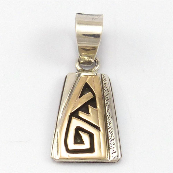 Gold on Silver Pendant