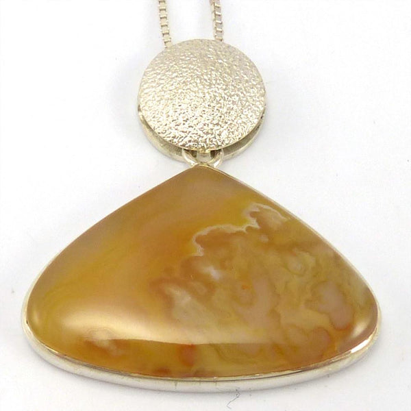 Plume Agate Pendant on Chain