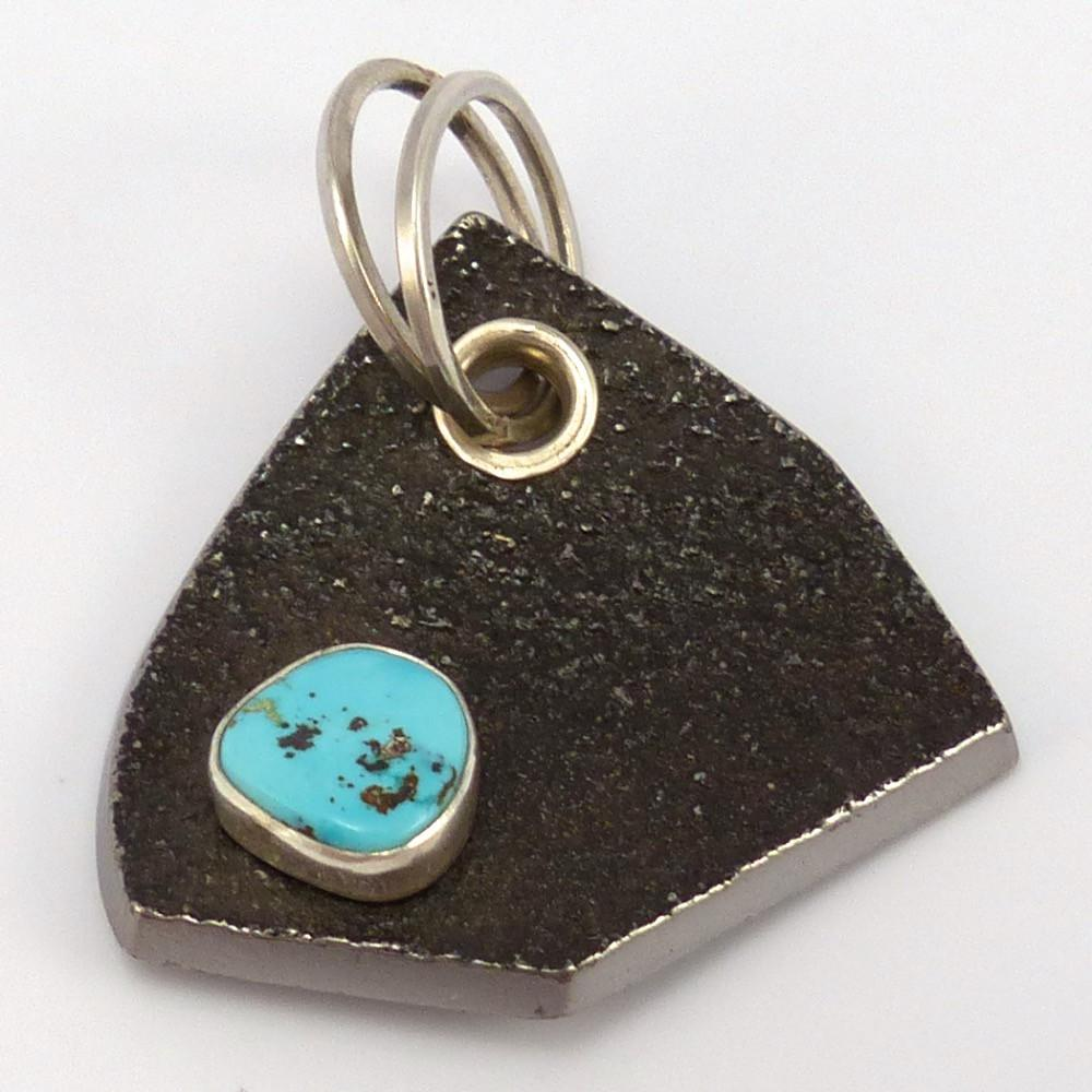 Turquoise and Steel Pendant