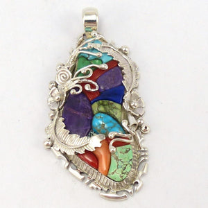 Multi-Stone Pendant, Alvin Yellowhorse, Jewelry, Garland's Indian Jewelry