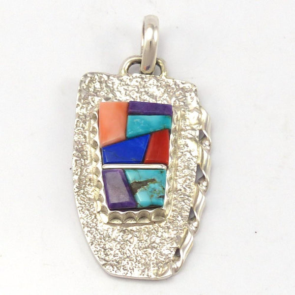 Colorful Inlay Pendant, Alvin Yellowhorse, Jewelry, Garland's Indian Jewelry