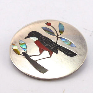 Robin Pin and Pendant, Sanford Edaakie, Jewelry, Garland's Indian Jewelry