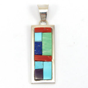 Inlay Pendant, Tommy Jackson, Jewelry, Garland's Indian Jewelry