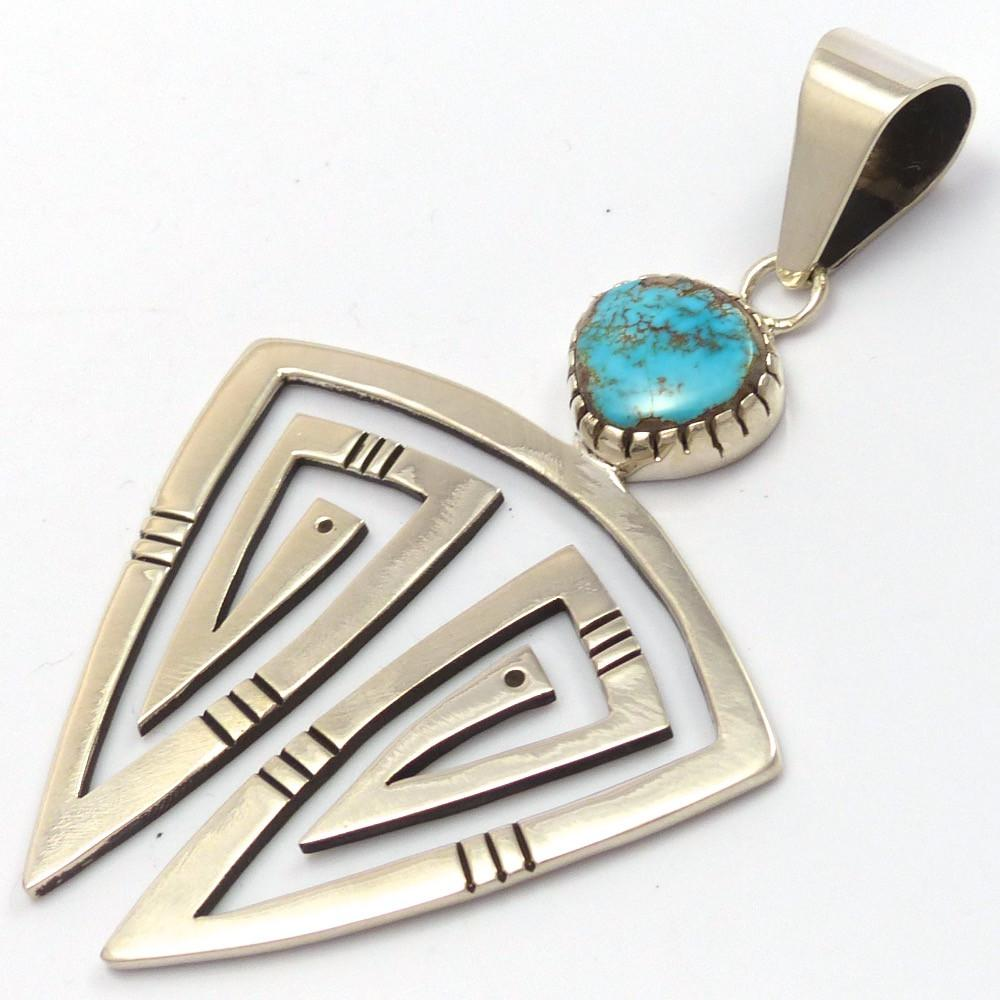 Bisbee Turquoise Pendant, Kee Yazzie, Jewelry, Garland's Indian Jewelry