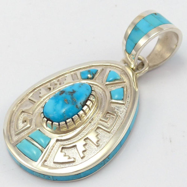Morenci Turquoise Pendant, Michael Perry, Jewelry, Garland's Indian Jewelry