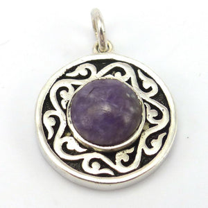 "Charoite ""Spirit Medallion"" Pendant, Melanie and Michael Lente, Jewelry, Garland's Indian Jewelry"