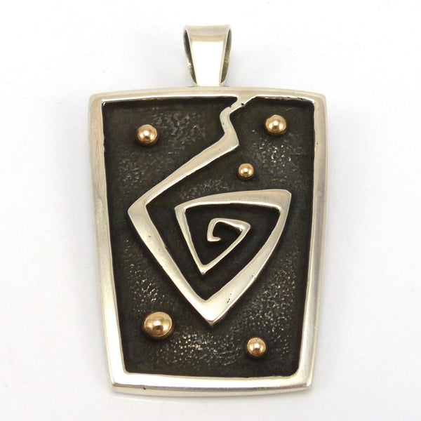Gold on Silver Migration Pendant, Edison Cummings, Jewelry, Garland's Indian Jewelry