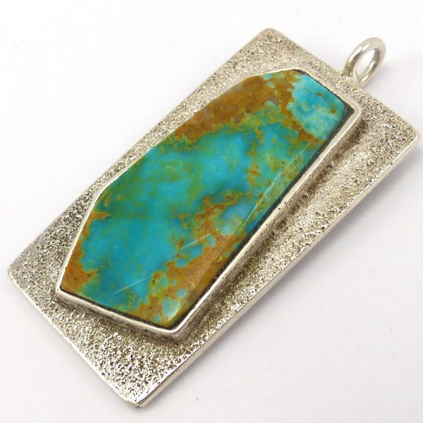 Royston Turquoise Pendant, Thomas Banyacya Jr., Jewelry, Garland's Indian Jewelry