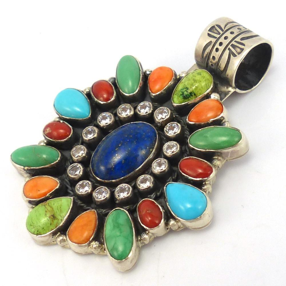 Multi-Stone Pendant, Don Lucas, Jewelry, Garland's Indian Jewelry