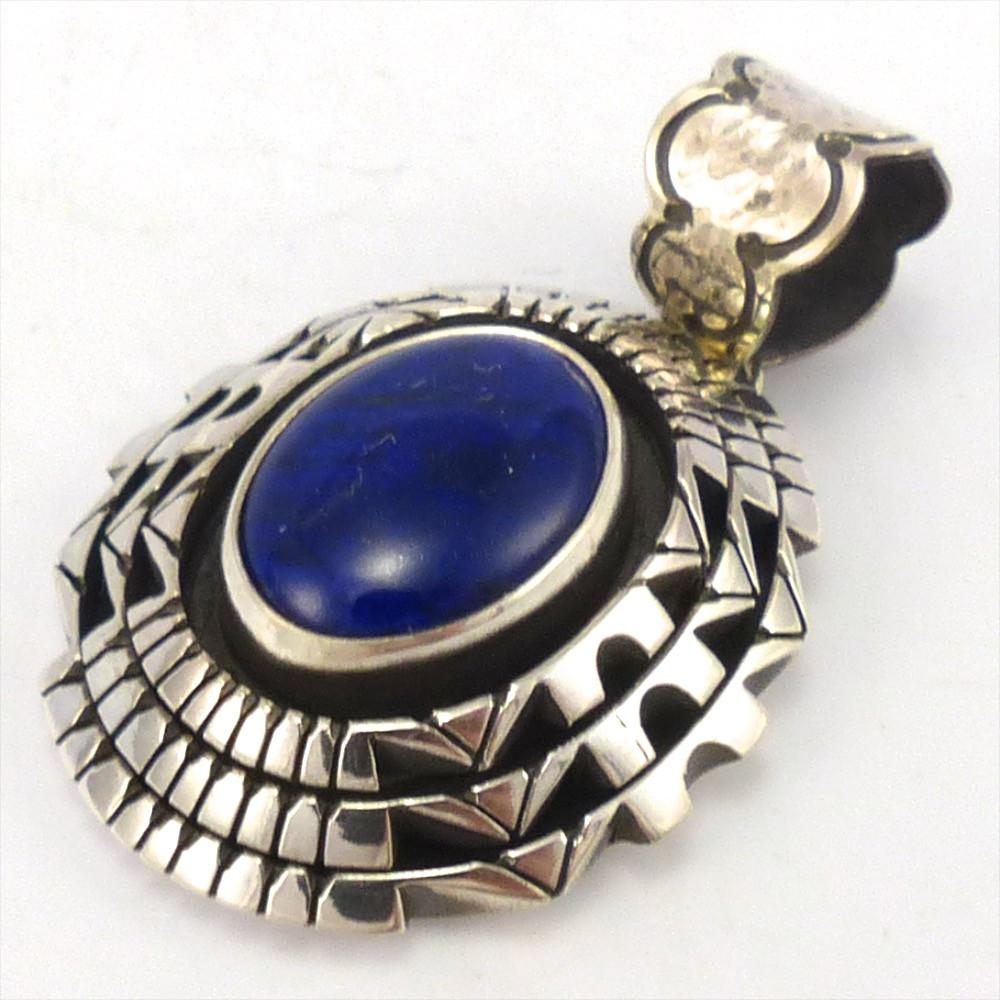 Lapis Pendant, Toby Henderson, Jewelry, Garland's Indian Jewelry