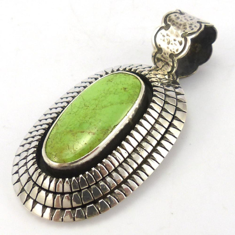 Gaspeite Pendant, Toby Henderson, Jewelry, Garland's Indian Jewelry
